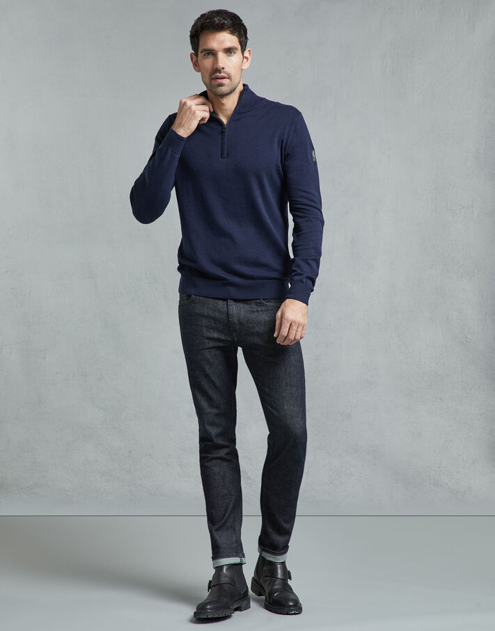 Belstaff Bay Half Zip Jumper navy