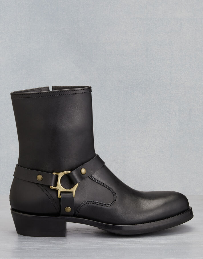 Belstaff HARD RIDER LEATHER BOOTS Black