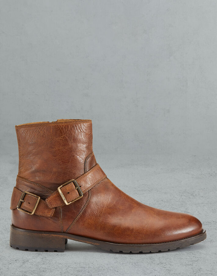 Belstaff TRIALMASTER LEATHER BOOTS Brown