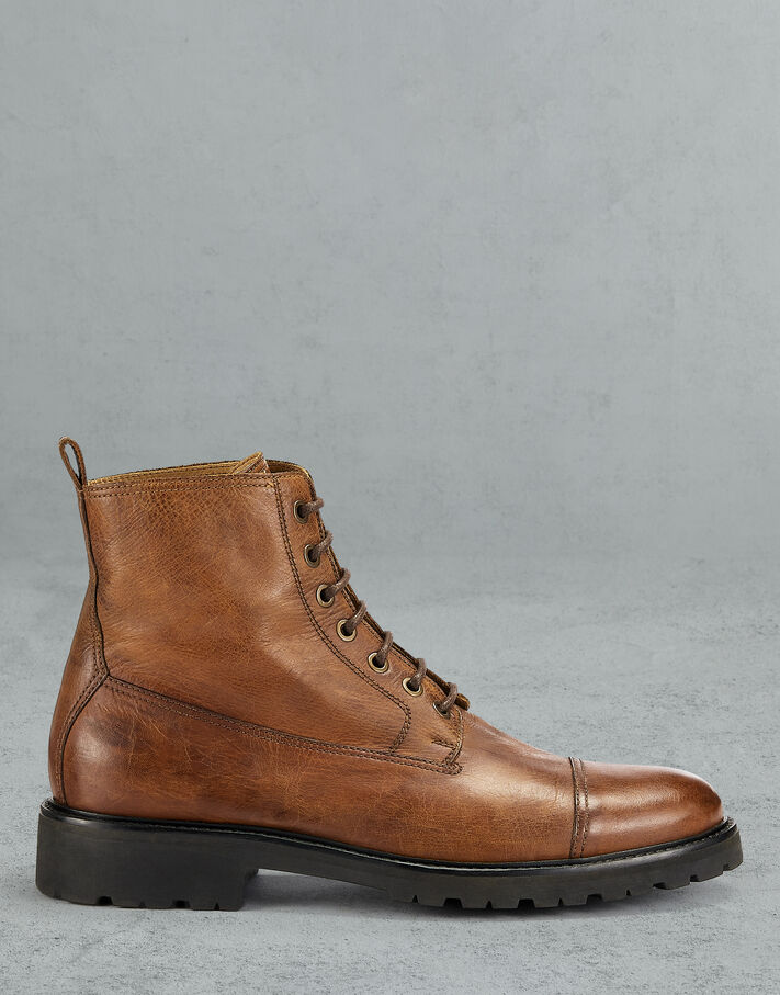 Belstaff ALPERTON LEATHER BOOTS Brown