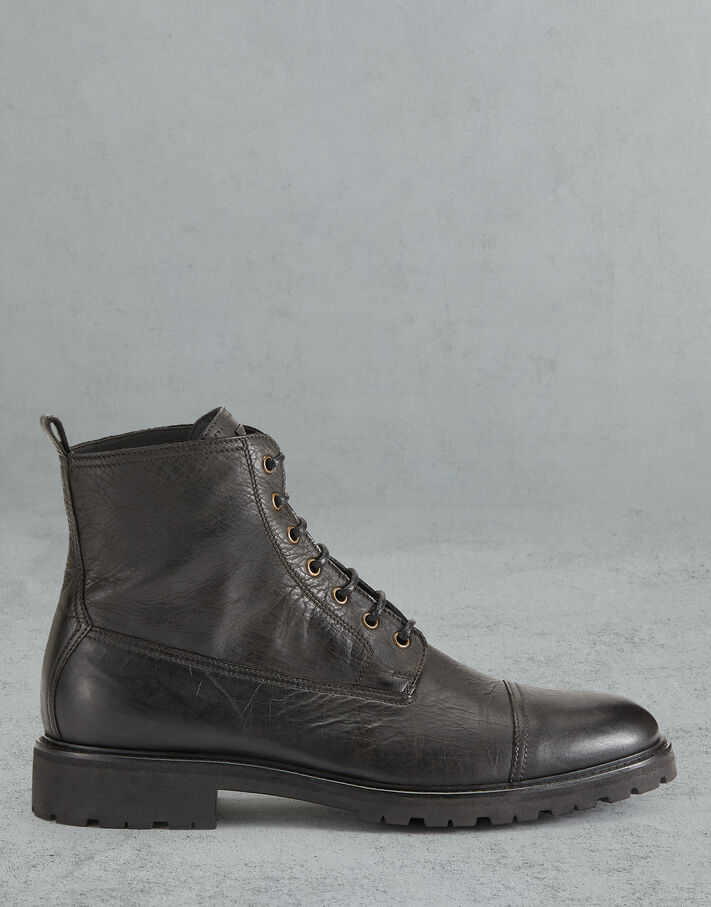Belstaff ALPERTON LEATHER BOOTS Black
